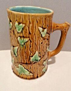 Majolica Ivy Tankard Mug Beaker - Antique