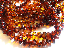 lot of-10 Natural Cognak Round Beads Baltic Amber Baby Necklace