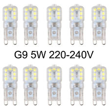 10Pc G9 Dimmable Led Capsule Bulbs Replacement For Light Lamps 220-240V 5W White