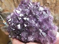 Amethyst Healing Crystal cluster Raw Natural chakra Heart specimen Uruguay 499g