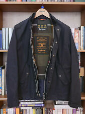 £229 BARBOUR ASH HERITAGE NAVY WAX HARRINGTON JACKET SIZE S SMALL 36