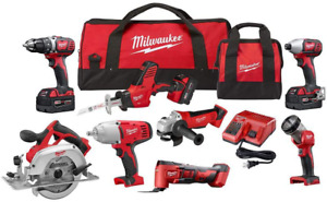 Milwaukee M18 Cordless Combo Kit 8-Tool with Three and Charger
