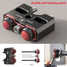 CNC Motorcycle Bike 22mm Handlebar Double Switch Self-Locking On-Off Push Button