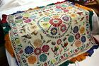 Krishna Gopala Welcome Wall Hanging Tapestry Old Hand Embroideryy Vintage Kutch