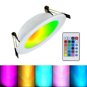 3W-10W RGB RGBW RGBWW LED Ceiling Panel Recessed Downlight Colour Changing Lamp