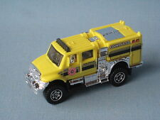 Matchbox International Workstar Brushfire Fire Rescue Truck Amarillo Juguete