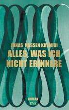 Alles, was ich nicht erinnere: Roman von Jonas Hassen Khemiri - Leseexemplar