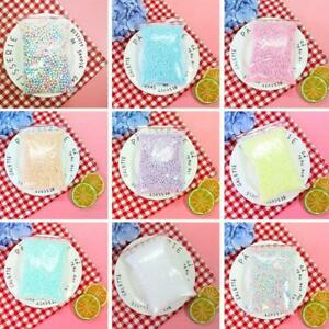 Warm Color Snow Mud Particles Accessories Tiny Foam Beads Slime Balls Supplies