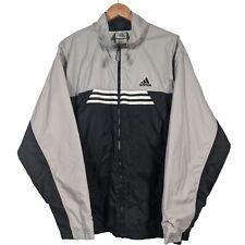 Vintage Adidas Grey & Black Full Zip Windbreaker - Mens XL