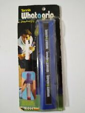 Tennis Whatagrip thin overgrip clings to racquet handle. Absorbs sweat & shock.