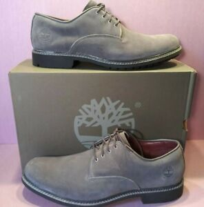 Timberland Men's Stormbuck A28A7 Dark Grey Suede Oxford Waterproof Shoes Size 10