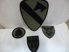 Lot Of 4 US Army Patches 1st Cavalry 24th Infantry Division Taro Leaf & Support