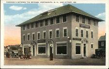 Portsmouth NH Kittery ME - Cookson's Gas Station & Store/Restaurant Postcard