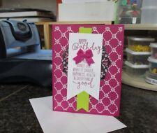 HAPPY BIRTHDAY HANDMADE  GREETING CARD ~STAMPIN UP emc#086 BANNER