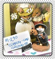 ❤️Wee Forest Folk M-290 Clippity-Clop LIMITED Edition Black Cowgirl Mouse❤️
