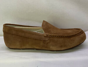 VIONIC Tompkin Loafer Brown Smooth Suede Leather Slippers Mens Size 8.5