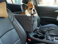 Pet Puppy Dog Booster Car Seat Console Seat Secure Safety Travel Seat Small Dogs