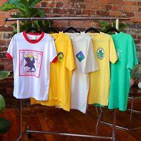 Vtg Boy Scout Camp Youth T Shirts Lot of 5 1980s BSA North Carolina Raven Knob