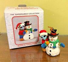 ALIEN & Snowman Xmas Ornament Shadowbox Vtg 1998 NOS Orig Box Collectible Cond