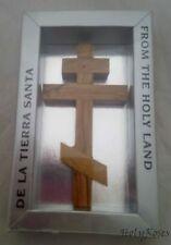 "Olivewood Russian Orthodox Eastern Wall Christian Cross 12 cm 4.75"" Gift Box Hjw"