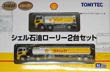 1/150 N scale TOMYTEC Trailer X 2 - Shell oil tanker truck