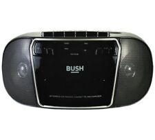 Bush CD radio cassette boombox en Noir/Argent