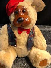 "Vintage Robert Raikes Papa Bear 12"" Wood Face Bear Applause Plush 54191"