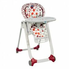 CHICCO High chair Polly Progres5 4 Wheels Cherry 0-36m Progress Baby