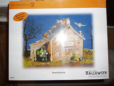 DEPT 56 HALLOWEEN VILLAGE SCREECH OWL FARM NIB *Read*