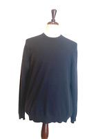 Express mens sweater black size XL 100 % cashmere long sleeve crew neck