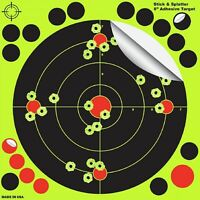 "100 Pack 8"" Shooting Targets Reactive Splatter Shot Gun Rifle Range Paper Target"