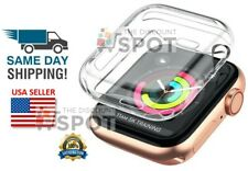 For Apple Watch Series SE 6 5 4 3 Screen Protector Soft Case Cover 38 40 42 44 S