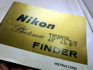 Nikon Photomic Ftn Finder Camera Manual instructions Owner Guide Genuine English