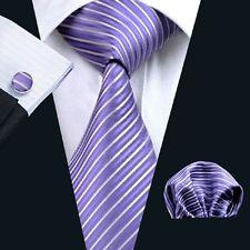 C-313 New Style Men's 100% Silk Neckties Tie+Hanky+Cufflinks Sets Free Shipping