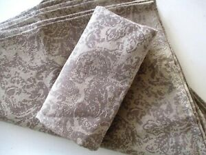 """FARMHOUSE FRENCH COUNTRY STYLE JAQUARD LINEN BLEND 18"""" NAPKINS ~SET of TEN~ New"""