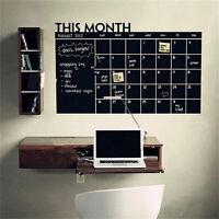 Pizarra tiza pizarra pared etiqueta decoración mes calendario planificadorSC