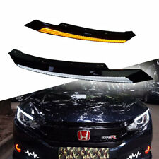 DRL LED Sequential Flasher Turn Signal Light Amber/White Switchback Arrow Strips