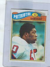 1977 Topps Mexican  Blank Back  SAM HUNT  Patriots
