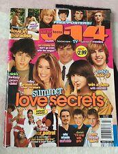 J-14 Magazine Just For Teens July 2007 Zac Efron Nick Jonas Miley Cyrus Cover