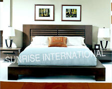 Contemporary Wooden Indian King Size Double Bed with 2  bedside cabinet !