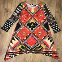 Desigual ladies womens multicolor shirt top tunic size S