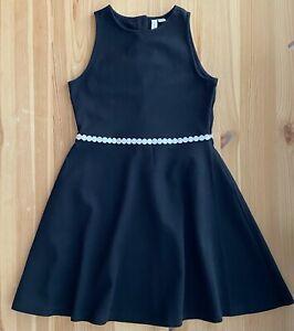 JANIE AND JACK Black & White Ponte Dress Size 10 EUC