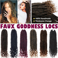 Goddess fAUX Locs Crochet Hair Wavy with Curly Ends Braiding Hair Extensions LC