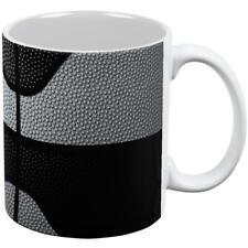 Championship Basketball Silver and Black All Over Coffee Mug