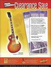 Gibson 1959 Les Paul Sunburst Guitar Music Machine ad 8 x 11 advertisement print