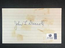 HOF John Paddy Driscoll AUTOGRAPH Hall of Fame COA Cubs/Bears/Cardinals D.1968