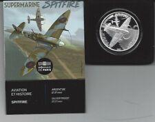 Frankrijk-France 10 euro 2020 zilver **Supermarine-Spitfire**