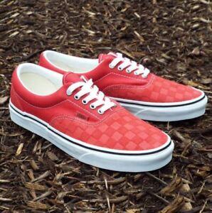 Vans Era Debossed Checkers Skate Shoes Size 11