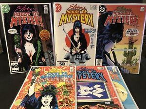ELVIRA'S HOUSE OF MYSTERY Lot # 1,2,3,5,6,8 8.5-9.2 (RC)