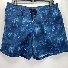 d1f09ecffa761 Jared Lang Mens Zebra Animal Print Swim Trunks Blue XL